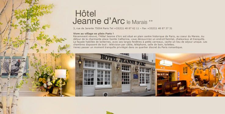 L 39 H Tel Jeanne D 39 Arc Paris Propose De Vous Recevoir L