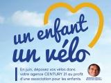 """""""Un enfant, un vélo"""" avec Century 21"""