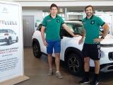 Fabrice Metz et Conrad Smith aux portes ouvertes de Citroën Pau Automobiles