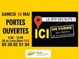 Portes ouvertes BTP CFA Pyrénées – Atlantiques ce samedi !